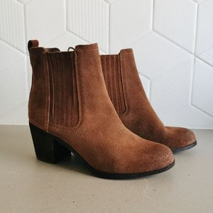 Sam Edelman Suede Heeled Ankle Booties